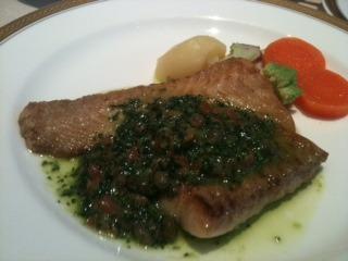 白身魚バジルソース