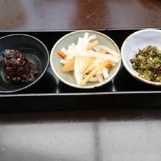 蕎麦屋の酒肴三種盛り