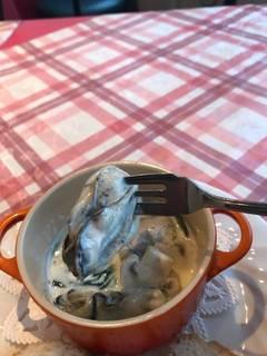 牡蠣のミルク煮