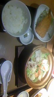 塩ちゃんこ鍋定食