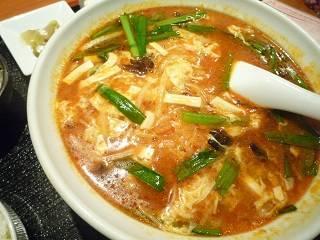 ランチ  サンラータン麺定食