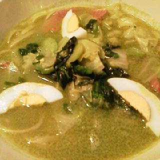 春野菜のスープスパゲティ