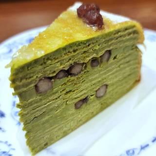 京都府産宇治抹茶のミルクレープ ケーキセット