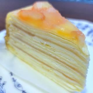 福島県産白桃のミルクレープ