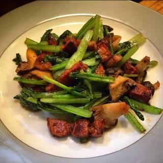イベリコ豚ベーコンの野菜炒め