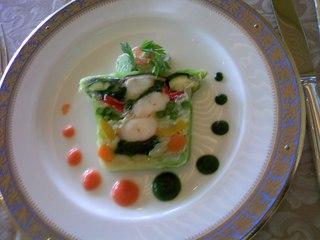 オマール海老と夏野菜のテリーヌ