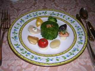 小海老と菜の花のシャルロット