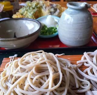天ぷら付 2色そば