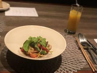 グリル野菜のスパゲッティ・アーリオ・オーリオ・ペペロンチーノ