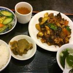 豚の黒酢炒め定食