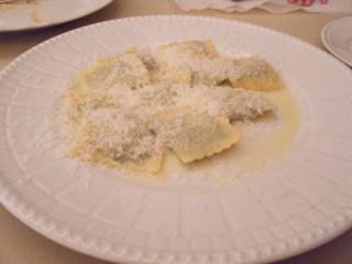 季節の青菜とリコッタチーズのトルテッリ