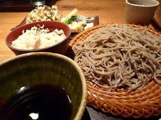 舞茸の天ぷらのそば切り