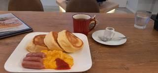 スクランブルエッグ&ソーセージ scrambled egg & sausage