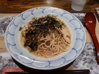 高菜と鶏肉のピリ辛パスタ