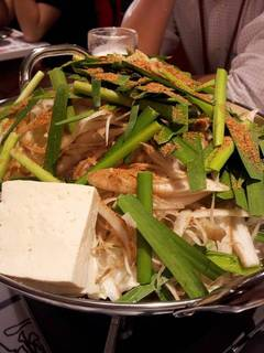 自慢のプリップリ牛もつ鍋