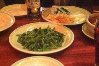 空心菜とニンニクの炒め物