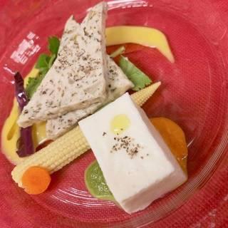 地鶏と彩り野菜のテリーヌ