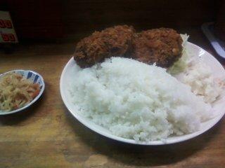 スターキングメンチカツ定食