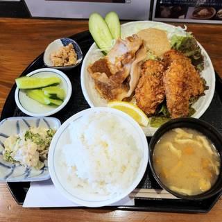 牡蠣フライ3個と生姜焼きコンビセット