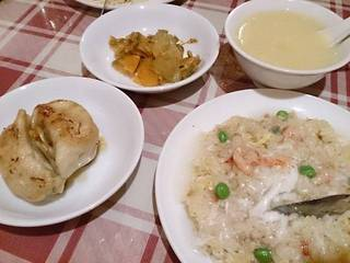 ネギそば+カニ炒飯(ランチ)