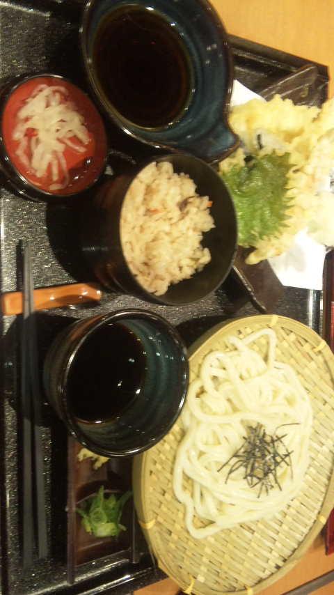天ぷらうどん定食