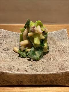 烏賊と分葱の酢味噌和え