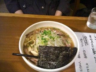 知床鶏のコク塩細麺