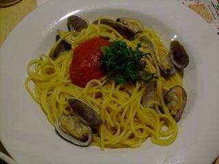 あさりと明太子のスパゲティー