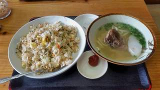 チャーハン&沖縄そば