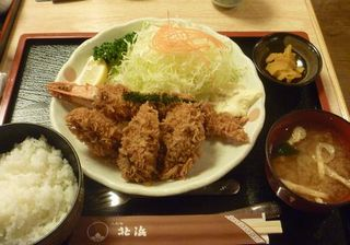 牡蠣&大海老フライ定食