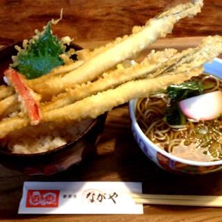 穴子丼とかけ蕎麦