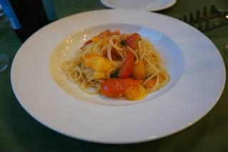 フレッシュトマトとバジルのスパゲッティーニ