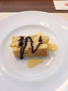 ランチデザートのケーキ