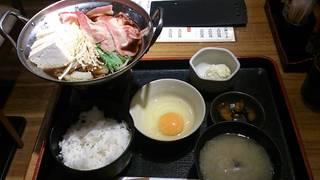 牛すき豆腐定食