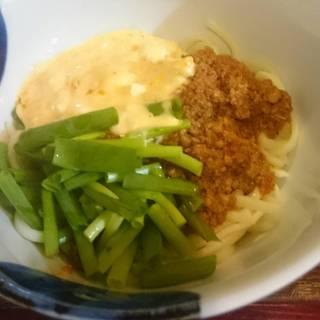 カルボナーラ風沖縄そば麺