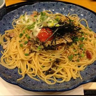 高菜と明太子のパスタ