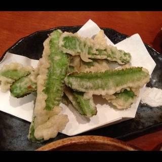 うりずん豆の天ぷら
