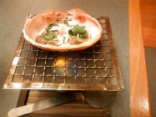 かにの味噌甲羅焼き
