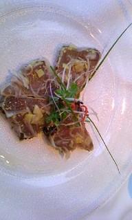 本日鮮魚のカルパッチョ ガーリックマナオ