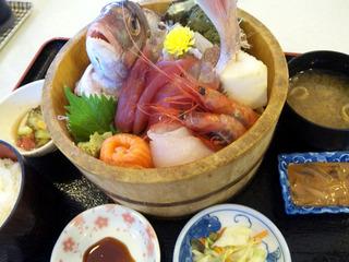 鯛のお刺身定食