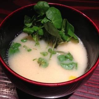 天然の石垣鯛の味噌汁