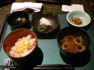 季節ご飯と味噌汁