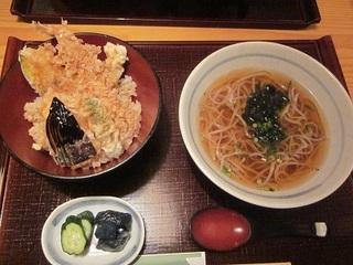 天丼と蕎麦