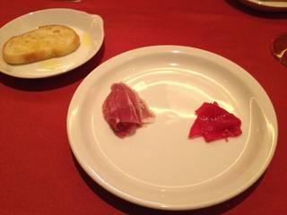 前菜1皿目、イベリコハム