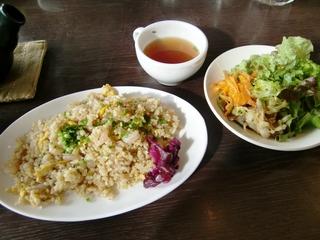 玄米チャーハンランチセット