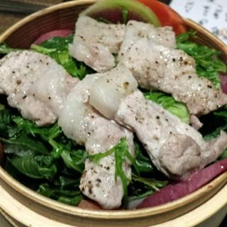 京都ぽーく豚ロースと冬の京野菜せいろ蒸し