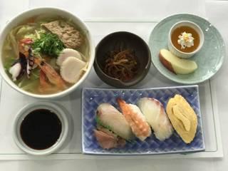 八幡浜ちゃんぽん寿司セット