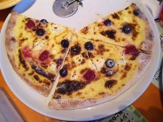 クリームチーズと数種のベリー