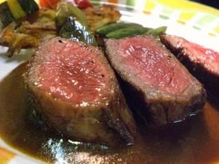 魚と肉料理のコース