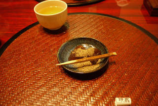 黒糖わらびもちと京番茶